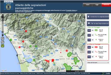 Atlante delle Segnalazioni della Provincia di Lucca