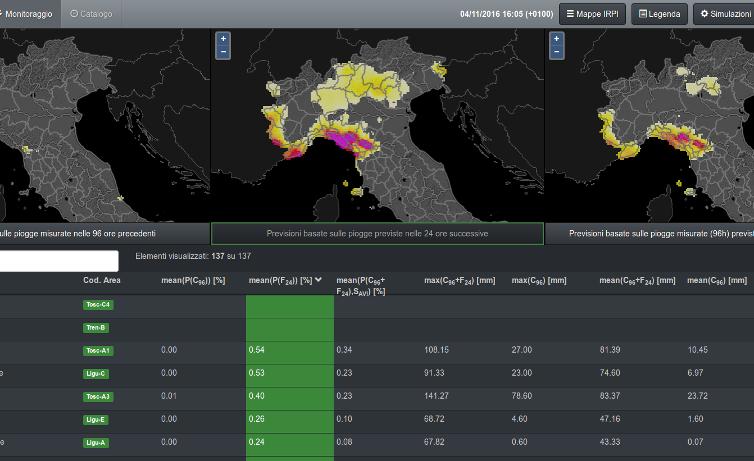Sistema di consultazione geografica per la valutazione del rischio frane