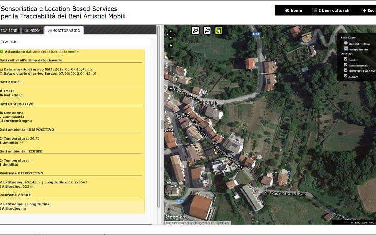 Upgrade sistema di sensoristica e Location Based Services per la Tracciabilità dei Beni Artistici Mobili