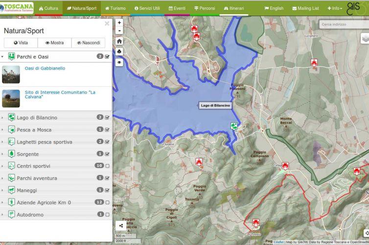 Applicativo cartografico desktop/mobile dedicato alla promozione turistica