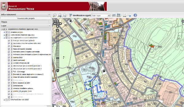 Upgrade del SIT e del servizio dedicato alla pubblicazione di progetti cartografici su servizio WebGis
