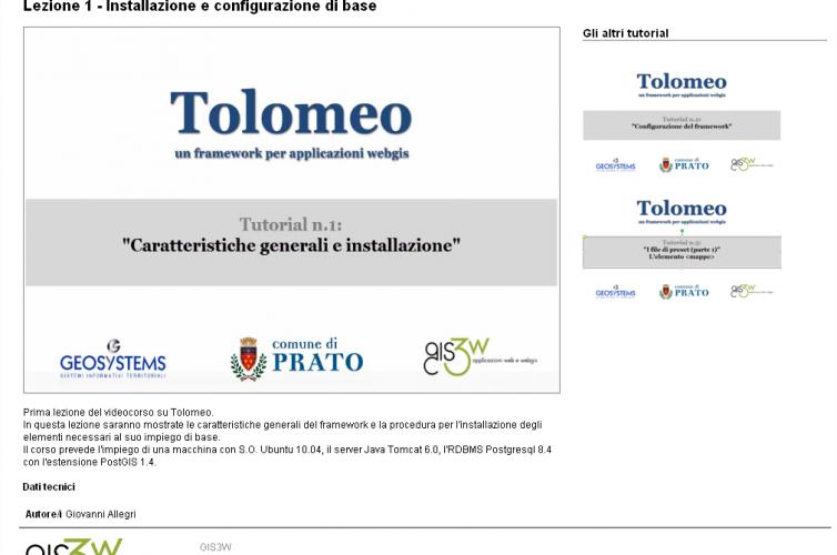 Formazione on-line per il framework Tolomeo
