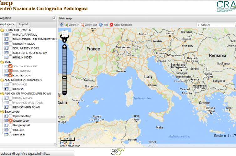 Migrazione WebGis Banca Dati Pedologica