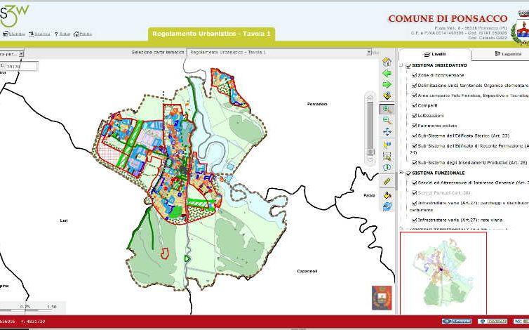 WebGis Regolamento Urbanistico e Piano Strutturale e collegamento alle normative associate