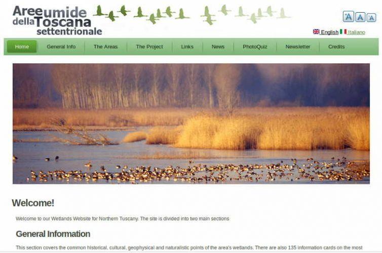 Web Site: Zone Umide Toscane