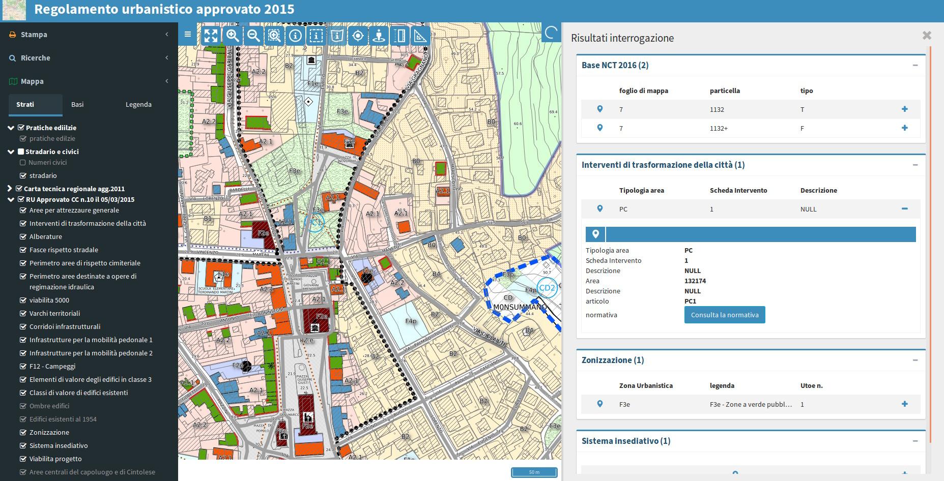 Webgis strumenti di pianificazione