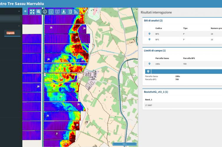 Sistema distribuito per la gestione di dati geografici relativi alle informazioni per l'agricoltura di precisione