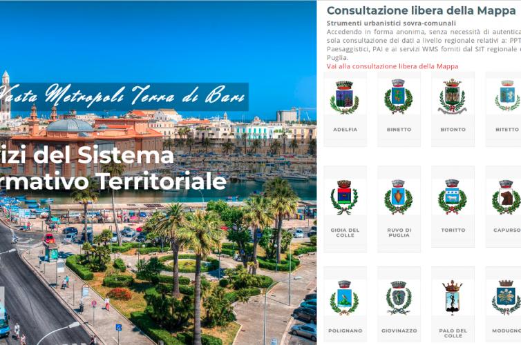 SIT WebGis Open Source – Area Vasta Metropoli Bari