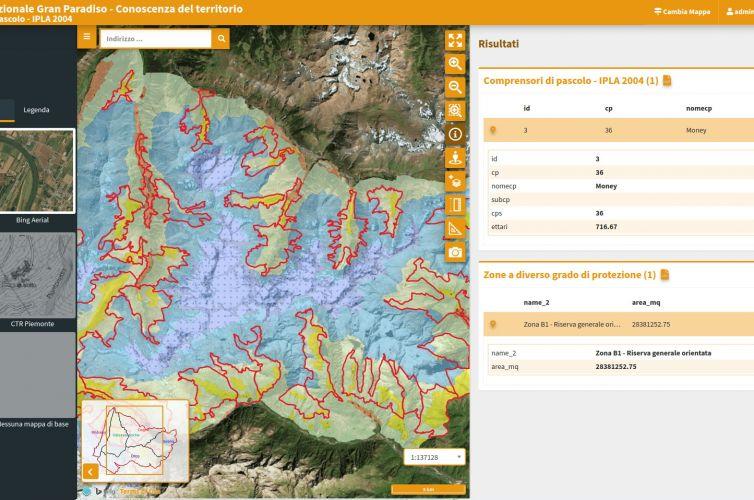 SIT WebGis Open Source – Parco Nazionale Gran Paradiso